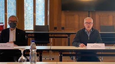 Der Herisauer Gemeindepräsident Kurt Geser gibt seinen Rücktritt bekannt. (Bild: Alessia Pagani)
