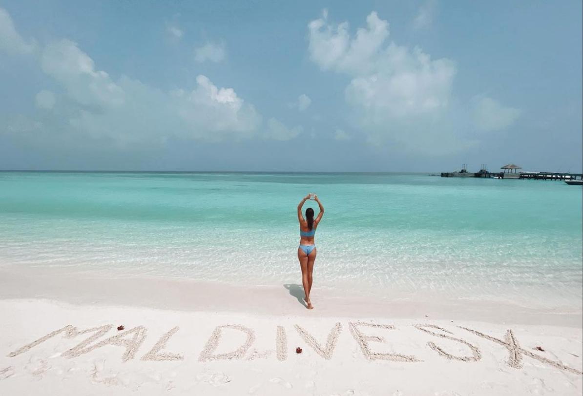Im November verbrachte Belinda Bencic eine Woche auf den Malediven.