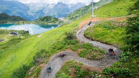 Engelberg und Wolfenschiessen planen neue Mountainbike-Trails. (Bild: (Roger Grütter, 14. Juli 2018, Engelberg))