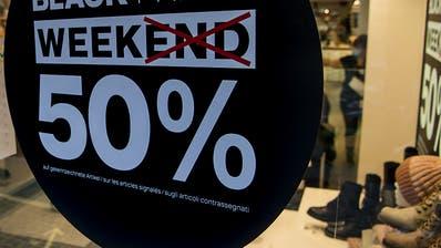 Shopping am Black Friday stösst auch auf Kritik