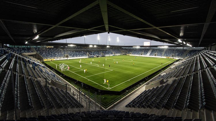 Das neue Schmuckstück in der Super League: Das Stade de la Tuilière. (Urs Lindt / freshfocus)