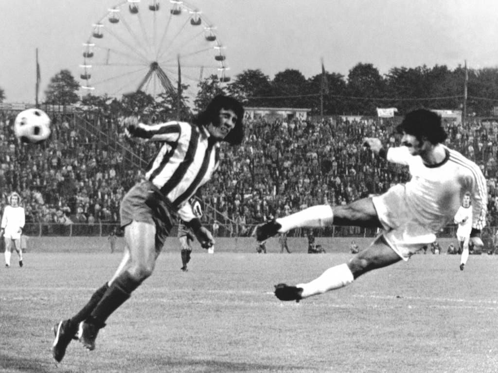 Ein typisches Müller-Goal: Der Schwabe traf auf alle möglichen Arten, sitzend, liegend, aus der Drehung, mit dem Kopf
