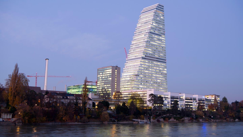 Der Roche Tower in Basel: Hier flog die FDP am Sonntag erstmals überhaupt aus der Regierung (Anthony Anex / KEYSTONE)