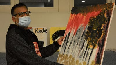 «Ich hatte Glück – im Gegensatz zu vielen anderen»: Der frühere Flüchtling Sarath Maddumage zeigt in Frauenfeld naive Kunst