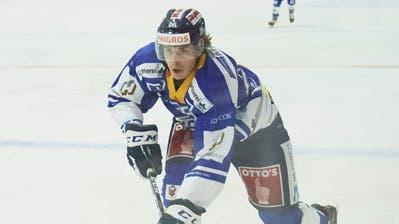Keanu Derungs im Spiel gegen den HC Sierre am 11. Oktober. (Bild: Jakob Ineichen (Zug, 11. Oktober 2020))