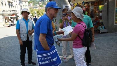 Wie hier in St.Gallen, sollen Tourist Angel künftig auch in Rorschach unterwegs sein. (Bild: TB)