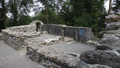 Überreste der Burg Hünenberg. (Bild: Stefan Kaiser)
