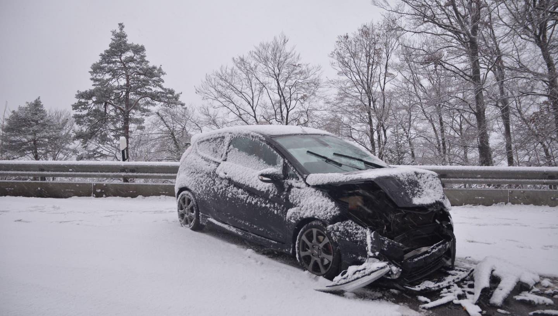 Erster Schnee im Flachland sorgt für einige Unfälle im Kanton Solothurn