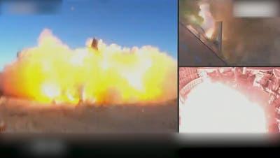 SpaceX-Rakete nach Testflug bei Landung explodiert