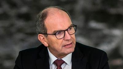 Bruno Damann, St.Galler Regierungspräsident und Gesundheitschef (CVP). (Bild: Arthur Gamsa)