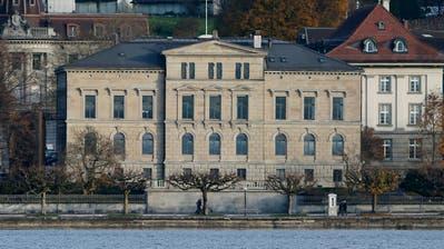 Zuger Regierungsgebäude vom Zugersee aus gesehen.                                                                                                                                                                                              Stefan Kaiser (Neue ZZ) (Stefan Kaiser (neue Zz) / Neue Zuger Zeitung)