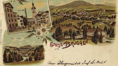 Eine Ansichtskarte aus Bruggen aus dem Jahr 1898. (Bild: SammlungReto Voneschen)
