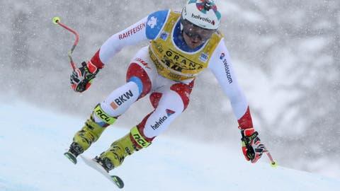 Abfahrt der Männer inVal D'Isere: Der Schweizer Urs Kryenbühl wird Dritter
