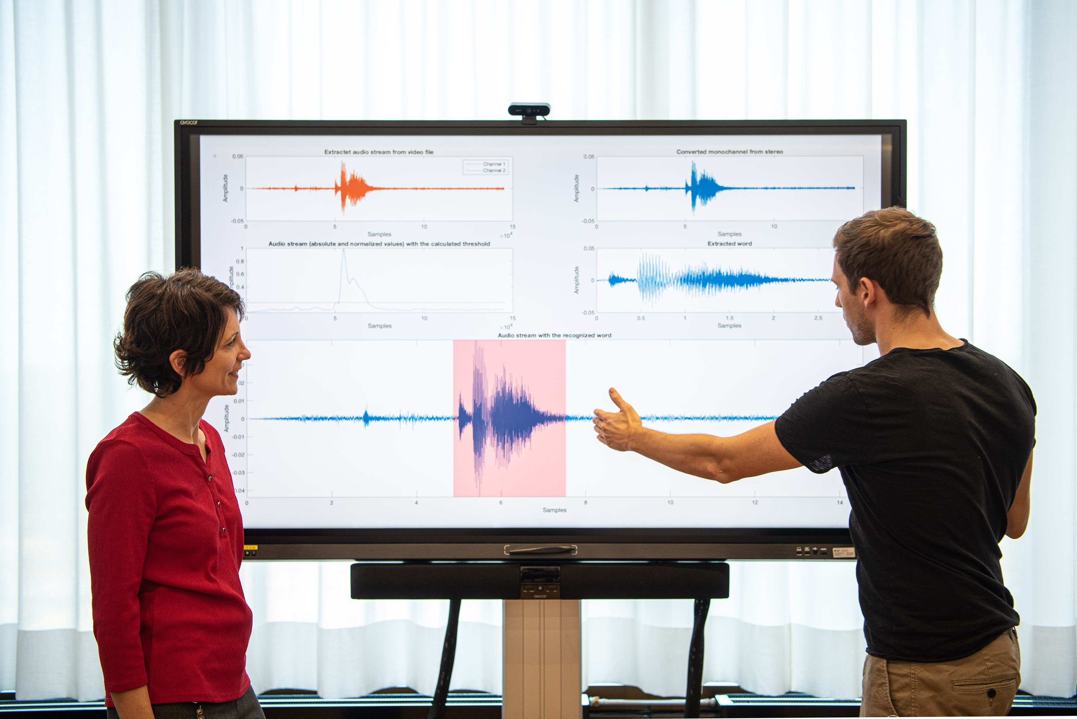 Besprechung der Resultate der Spracherkennung aus der zweiten empirischen Studie: Team der Hochschule für Life Sciences FHNW.