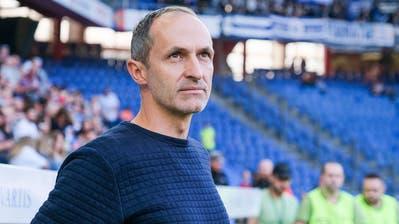 Thomas Häberli (hier im St.-Jakob-Park) war der Vorgänger von Fabio Celestini als FCL-Trainer. (Bild: Martin Meienberger/Freshfocus (Basel, 29. September 2019))