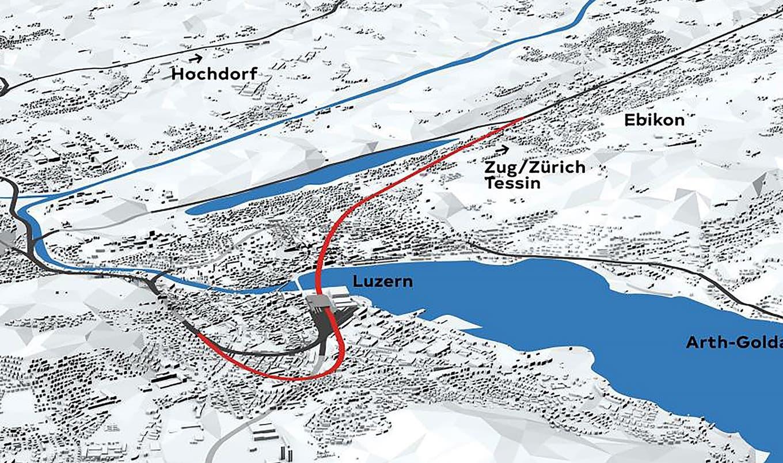 Dierikon - Wegen Durchgangsbahnhof Luzern: Im Rontal entsteht ab 2028 ein riesiger Abstellbahnhof mit 13 Gleisen