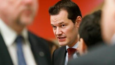 FDP-Staatsrat Pierre Maudet ist für seine Ratskollegen ein ungewollter Gast. (Cyril Zingaro / KEYSTONE)