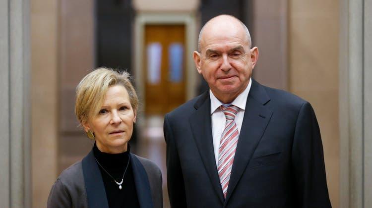 Martha Niquille soll das Erbe von Ulrich Meyer als Präsident des Bundesgerichts antreten. (Keystone)