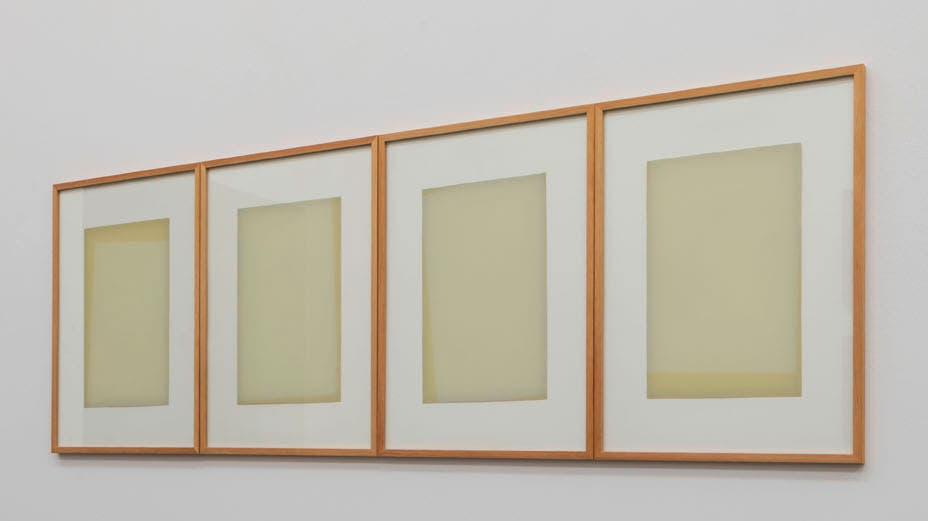 Balmer, Valérie (*1961). «Chronik», 2019-2020. Öl hinter Glas, 40 x 30 x 1 cm.