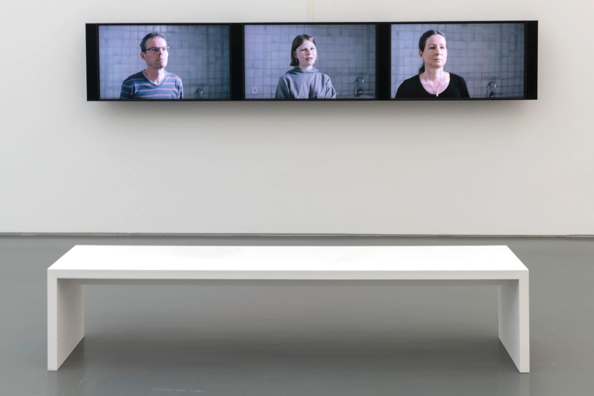 Niederberger, Sadhyo (*1962). «Was wir sehen blickt uns an» Videodokumentation einer Bildbetrachtung, 2020. In Zusammenarbeit mit Hannes Stark und Daniel Reichenbach. Video, Full HD, Farbe/Ton, 41'12''.