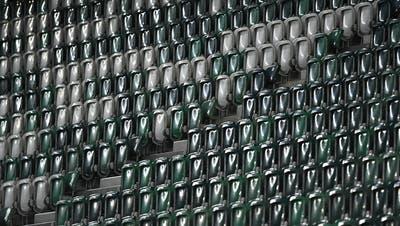 Heimstadion des FC St.Gallen: Menschenleerer Kybunpark, trostloser Anblick,. (Benjamin Manser)