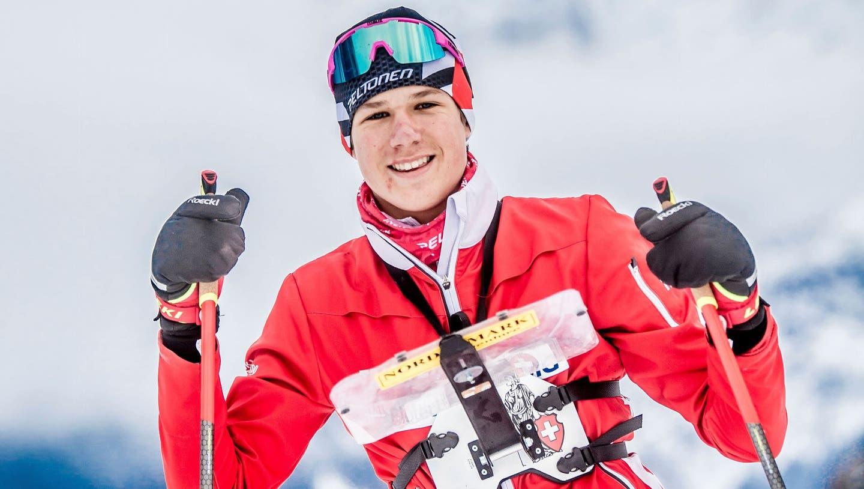 Flavio Ehrler beim Training in Engelberg. (Bilder: Nadia Schärli (14. Dezember 2020))