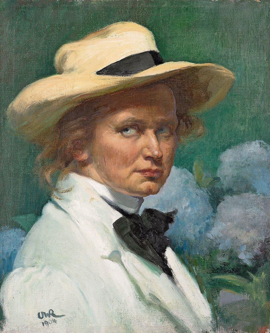 Selbstbildnisse malte Ottilie W. Roederstein oft – meist so selbstbewusst wie selbstbefragend. Dieses stammt von 1904.
