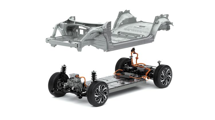 Die neue E-GMP-Plattform von Hyundai. Autos mit bis zu fünf Metern Länge sind darauf möglich. (BIld: HO)