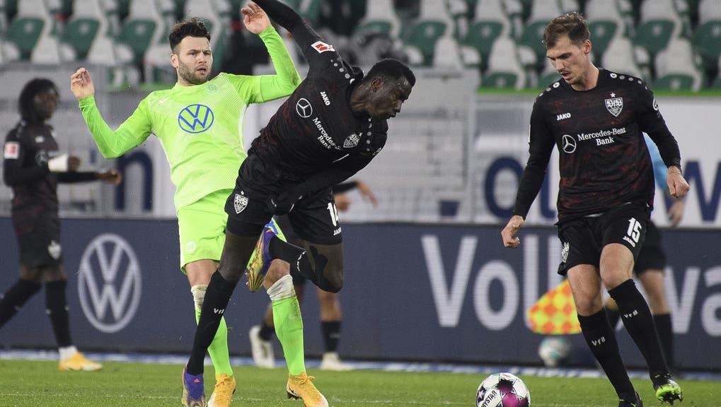 Der Schweizer Renato Steffen spielte gegen den VfB Stuttgart die vollen 90 Minuten durch. (Bild: Keystone)