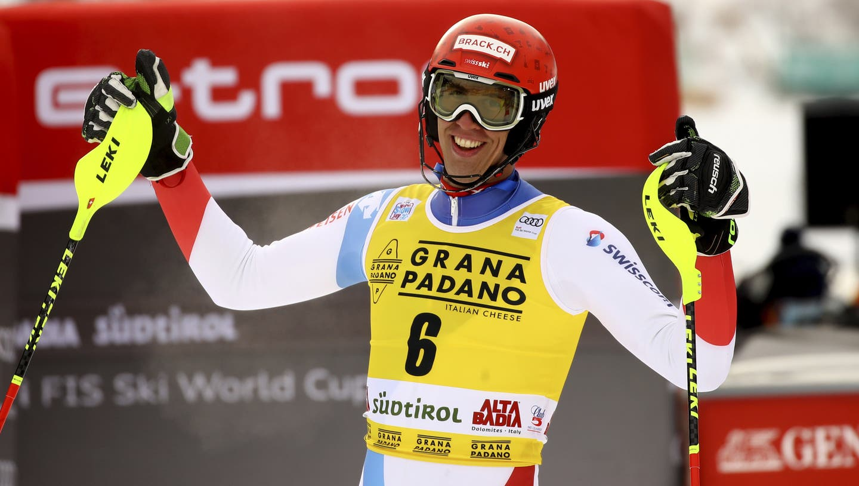 Ramon Zenhäusern feierte am Montag in Alta Badia (ITA) seinen insgesamt zweiten Weltcup-Sieg. Reichts heute für den Dritten? (Bild: AP)