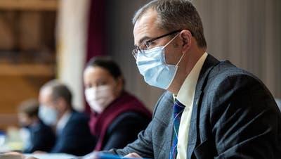 Regierungsrat Urs Martin an der Sitzung des Grossen Rates des Kantons Thurgau vom 16. Dezember in der Rüegerholzhalle in Frauenfeld. (Reto Martin)