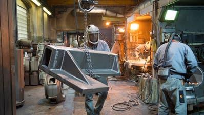 Der Industrie brachen im Coronajahr viele Aufträge weg. (Bild: Ralph Ribi)