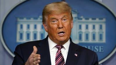 Trump droht, Coronahilfspaket nicht in Kraft zu setzen – das hätte auch einen «Shutdown» zur Folge