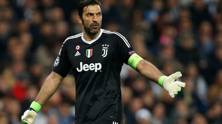 Juventus-Goalie Gianluigi Buffon soll sich seinem Mitspieler gegenüber blasphemisch geäussert haben. (Keystone)