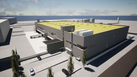 Visualisierung des neuen Logistikgebäudes von Lidl Schweiz am Hauptsitz in Weinfelden. (Bild: PD)
