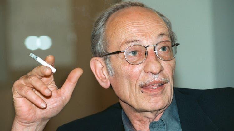 Ist 88-jährig gestorben: Luigi Snozzi, berühmter Tessiner Architekt und Intellektuelle. Hier in einer Aufnahme von 1996. (Keystone)