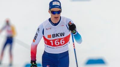 Eine der grössten Schweizer Langlauf-Hoffnungen: Cyril Fähndrich. (Bild: Urs Steger (Goms, 1. Dezember 2019))
