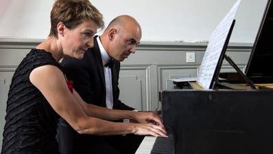 Musikalisch wären sie: Simonetta Sommaruga und Alain Berset. (Peter Schneider / KEYSTONE)