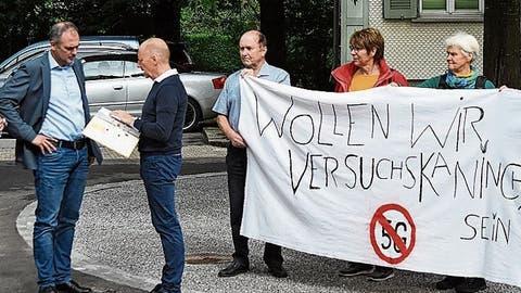Bürger wehren sich mit Sammeleinsprache gegen 5G-Antennen