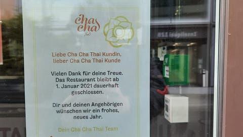 Das Restaurant Cha Cha Luzern bleibt dauerhaft geschlossen