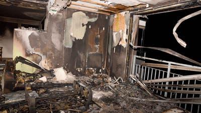 Die Wohnung ist zerstört. (Bild: Kantonspolizei Obwalden)