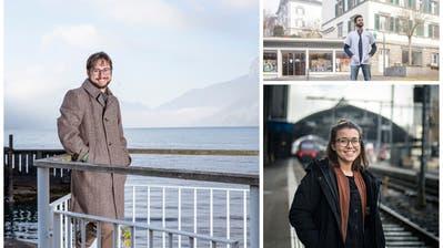 Andy Gubser, Masterstudent, 29, am Heimathafen am Walensee. (Bild: Tobias Garcia)