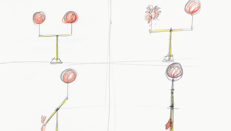 «Skizze zu einem Film (Zwei Ballone)» von 1983. (Bild: PD)