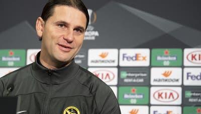 Ein optimistischer Trainer: Gerardo Seoane vor dem Spiel gegen Cluj. (Keystone)