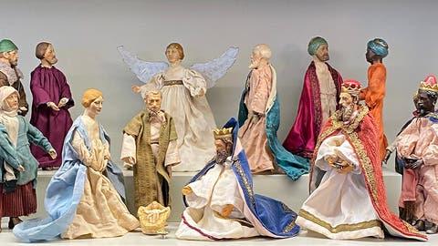 Bereits 100 Jahre alt: Die Krippe aus Saba-Figuren hat ihren Ursprung in der Amriswiler Spielwarenfabrik von August Bucherer. (Bild: PD)