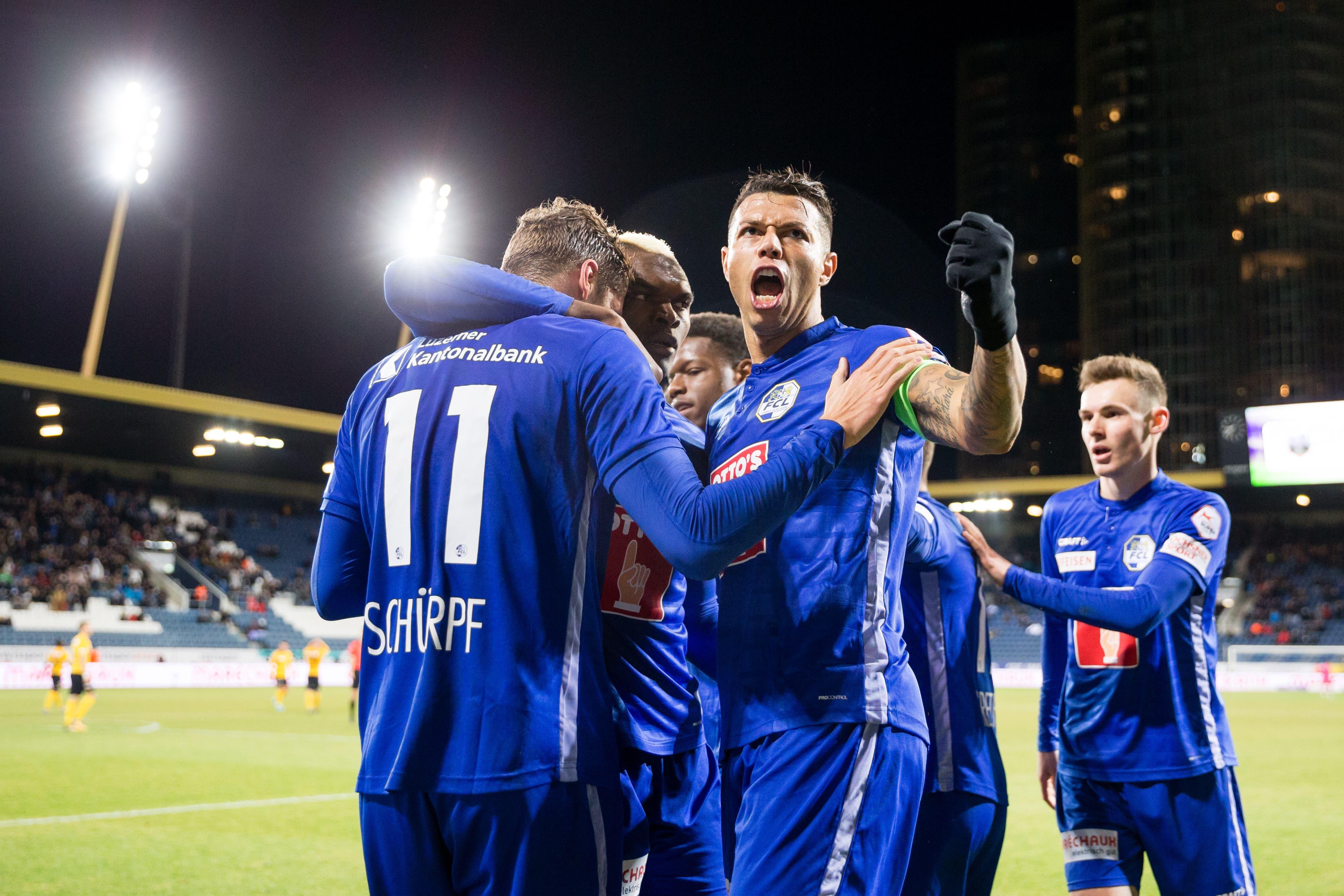 Geballte Faust: Luzerns Lucas bejubelt das 1:0.