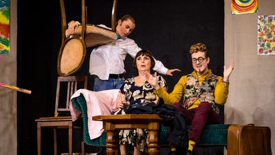 Hauptprobe des Stücks «Komödie im Dunkeln» der Theatergesellschaft Horw. (Bild: Philipp Schmidli (Horw, 8. November 2019))
