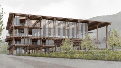 So könnte die Talstation in Weggis künftig aussehen. (Visualisierung: PD)