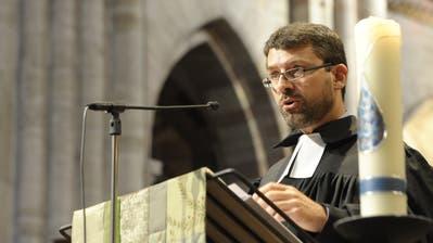 Gottfried Locher. hier 2018 im Basler Münster, ist kommenden Sonntag in der evangelischen Stadtkirche Frauenfeld zu Gast. ((Bild. Martin Toengi/BLZ))