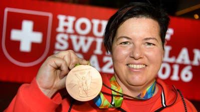 Heidi Diethelm Gerber 2016 in Rio de Janeiro mit der olympischen Bronzemedaille (Laurent Gillieron / KEYSTONE)